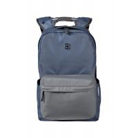 Рюкзак WENGER 14'', синий/серый, полиэстер, 28x22x41 см, 18 л