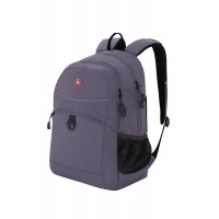 Рюкзак WENGER, серый/черный, полиэстер 600D/хонейкомб, 33x16,5x46 см, 26 л