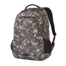 """Рюкзак WENGER,15"""", зеленый камуфляж 48х37х19 см, 34 л"""