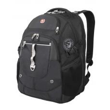 """Рюкзак WENGER 15"""" чёрный/серебристый 34x22x46 см, 34 л"""
