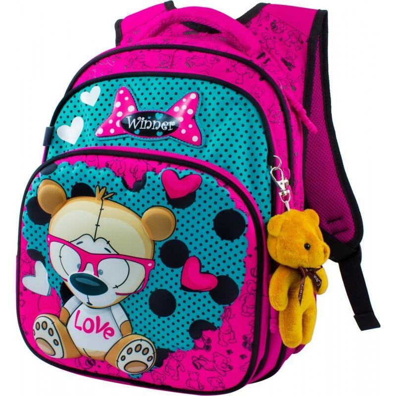 0933bbe49676 Купить школьный Рюкзак Winner 8015 с мишкой для девочки в ...